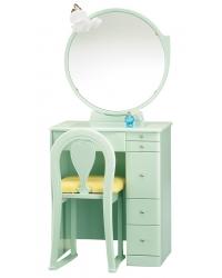 ドレッサー 一面鏡 鏡台 ミルキー グリーン色