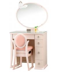 一面鏡 ドレッサー ポエム ホワイト色
