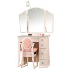 三面鏡 ドレッサー ポエム ホワイト色
