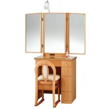 三面鏡 ドレッサー カレン 65 サクラ色