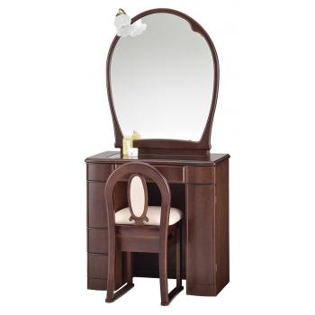 一面鏡 ドレッサー エイト ウエンジ色
