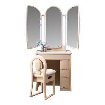 三面鏡 ドレッサー シャマル ホワイト色