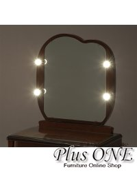 一面鏡 ドレッサー ラパン LED点灯