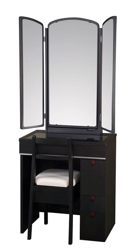 黒い化粧台