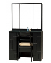 三面鏡 ドレッサー テトリス ブラック色