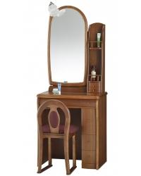 一面鏡 ドレッサー サフラン ウォールナット色