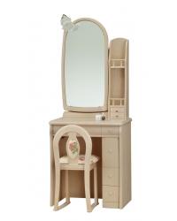 一面鏡 ドレッサー サフラン 白色