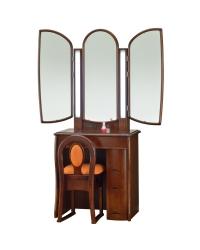 三面鏡シャマル ナラダーク色の鏡台