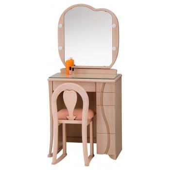 一面鏡 ドレッサー ラパン ホワイト色